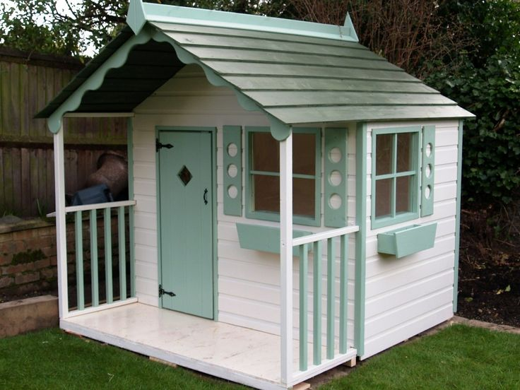 38 best images about playhouses on pinterest storage for Wendy house ideas inside