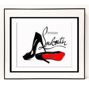 パロディ ポップ アート キャンバス アート パネル フレーム ポスター インテリア 壁 Christian Louboutin クリスチャン ルブタン Pop Art CANVAS-cl-0007