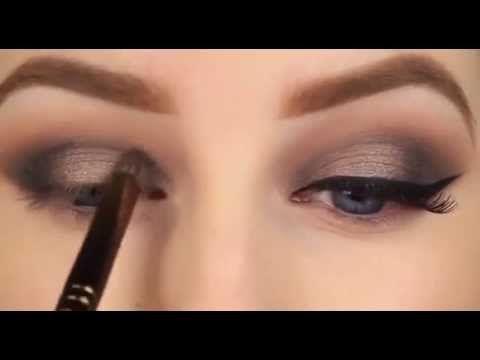 Bakır Tonlarında Dumanlı Göz Makyajı nasıl yapılır - YouTube
