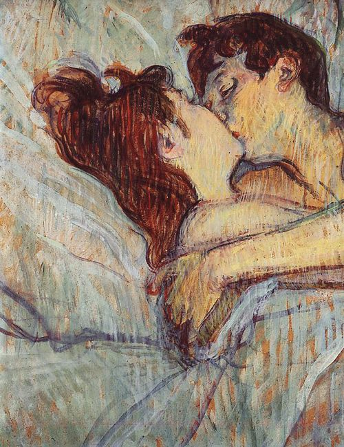 Henri de Toulouse-Lautrec, In Bed the Kiss (detail), 1892
