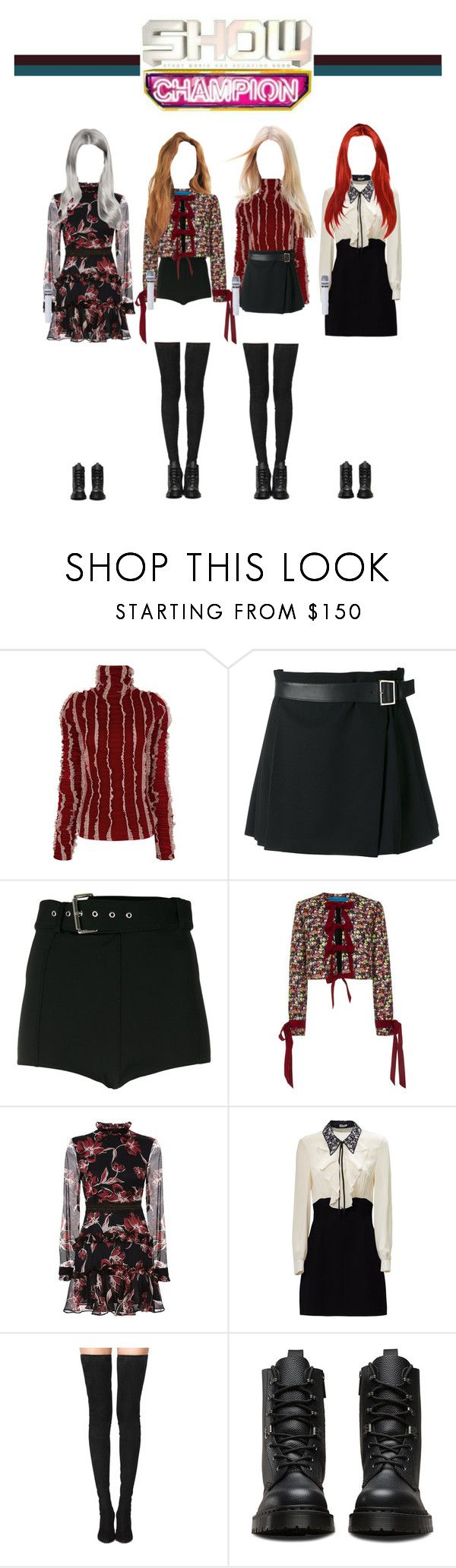 """[ Show Champion ] Do You Wanna Play ?"" by officialsrjh ❤ liked on Polyvore featuring Y/Project, Alexander McQueen, Versus, Jonathan Cohen, Nicholas, Miu Miu, Tamara Mellon, Dr. Martens, JennieSRJH and HaruSRJH"