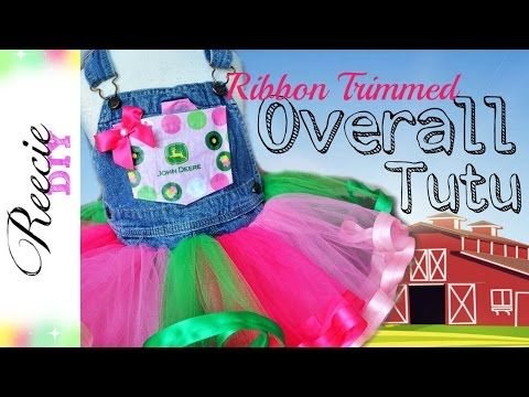 Make a tutu skirt out of your old Jeans! - YouTube