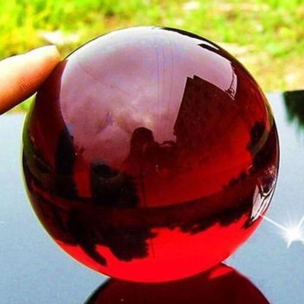 40mm Natural Asian Rare Quartz Red Magic Crystal Healing Ball Sphere Wish Crystals Crystal Wand Point Healing Magic