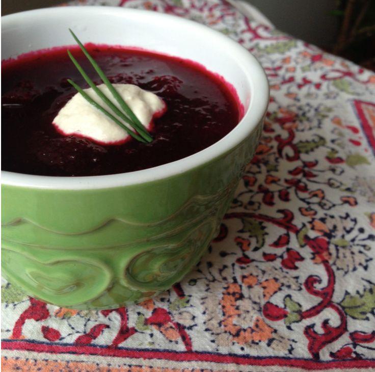 Borscht http://sweetvegan.net/borscht/ #whatveganseat #vegansoups #veganrecipes #beetrecipes #pinkfood #plantbased