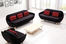 última sofá de diseño de mueble, tela sofá curvado ajustado con la pierna de…