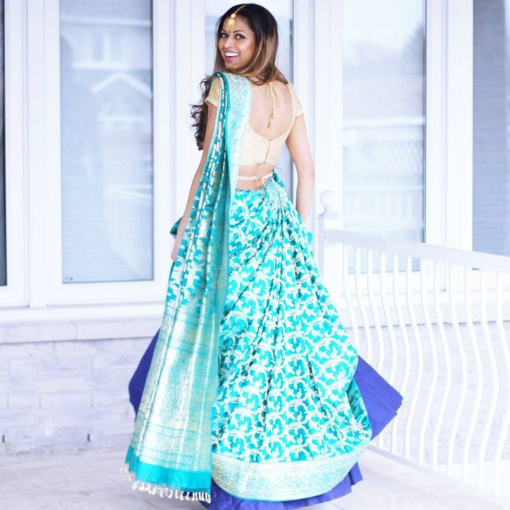 "1,000 Likes, 16 Comments - Tia (@tiabhuva) on Instagram: ""My only issue with banarasi silk is that if you're even a little taller than average and wear…"""