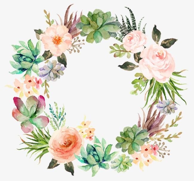 This Graphic Is About Watercolor Floral Frame Flower