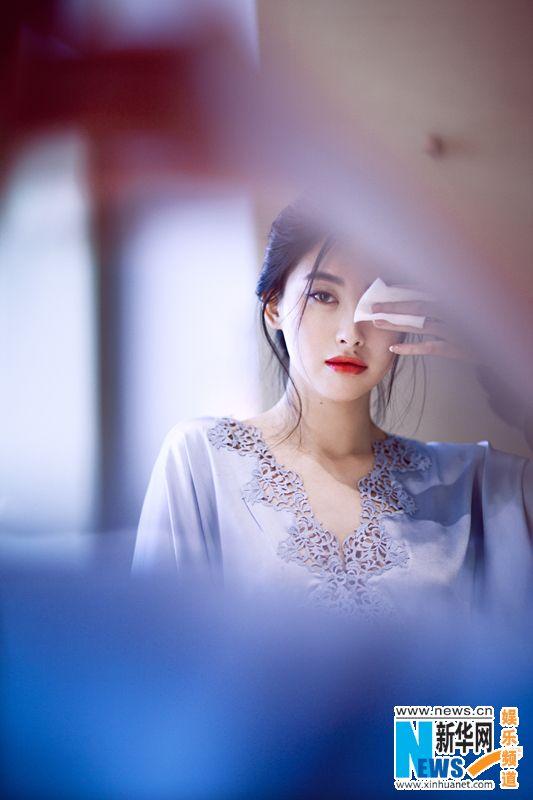 Chinese actress Zhu Zhu  http://www.chinaentertainmentnews.com/2015/10/zhu-zhu-releases-new-fashion-shots.html