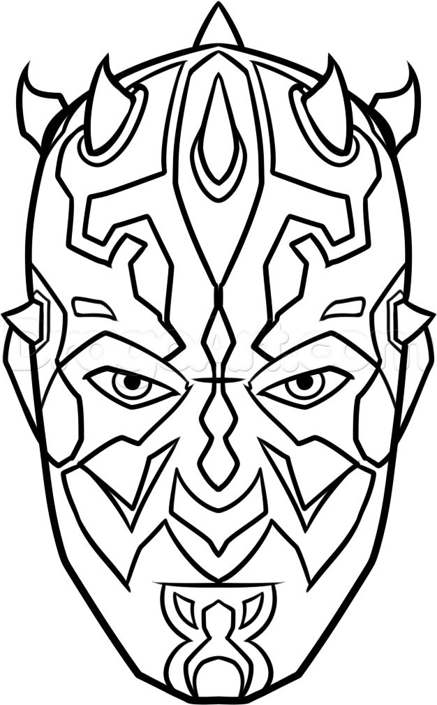 How to Draw Darth Maul Easy, Step by Step, Star Wars ...