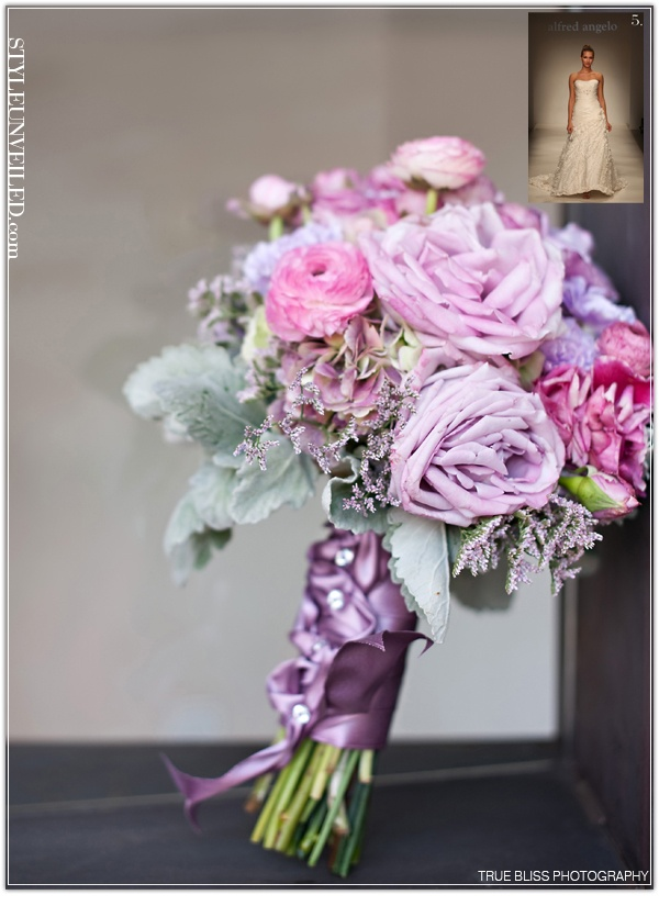 Lavenders lovely♥  Lamium with lambs ears and coolwater roses.  Pretty stems on bouquet