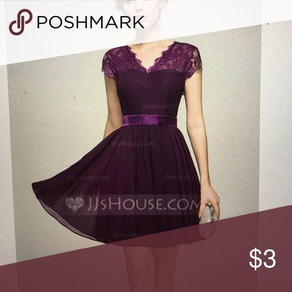 Purple formal dress New Dresses Midi