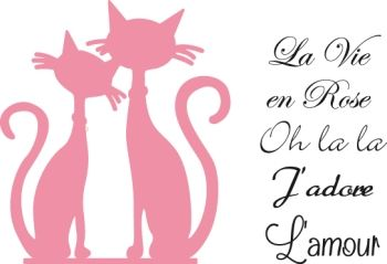 Marianne Design French cats (Babs)