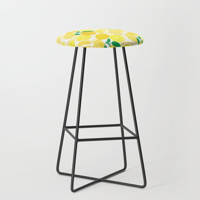 Buy Lemon Harvest Bar Stool By Leannesimpsonart Worldwide Shipping Available At Society6 Com Just One Of Millions Of High Bar Stools Kitchen Bar Stools Stool