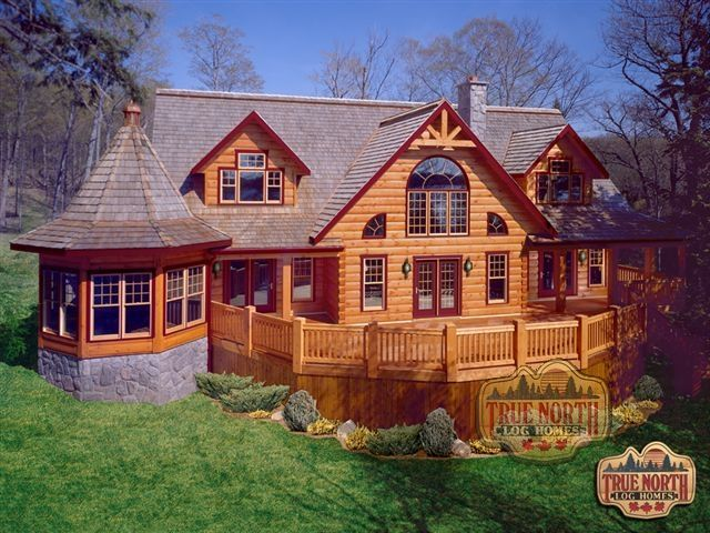 Citadel I Model from True North Log Homes.