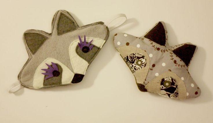 diy raccoon eye pillows
