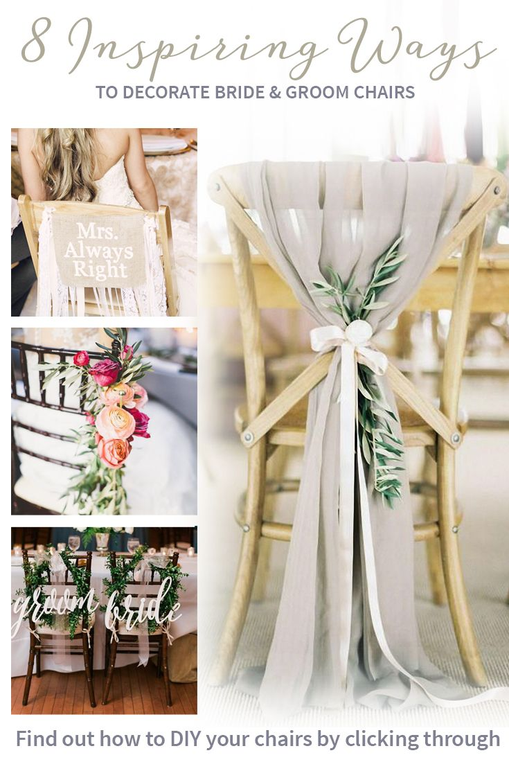 DIY your bride and groom chairs