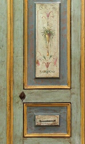 Reproduction of Antique Italian Painted Door