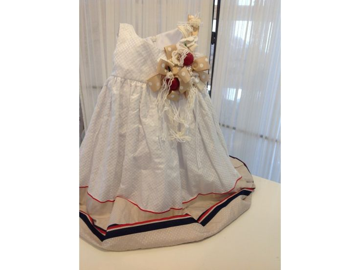 Βαπτιστικό φόρεμα κερασάκι