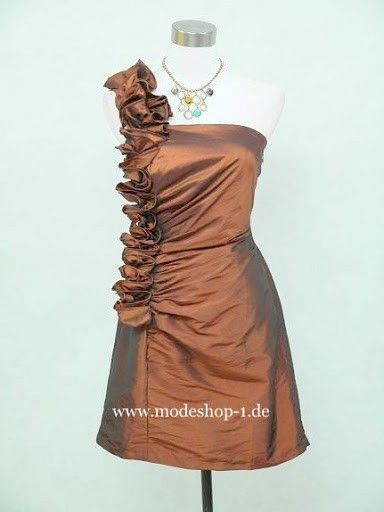 Abendkleid Cocktailkleid Valparaíso in Bronze Braun