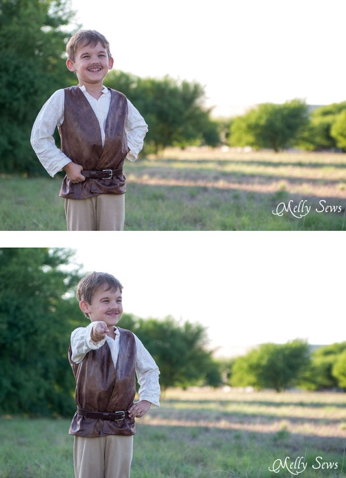 so cute - Make a prince costume with a free pattern - this could also be a pirate or even Inigo Montoya costume - Melly Sews