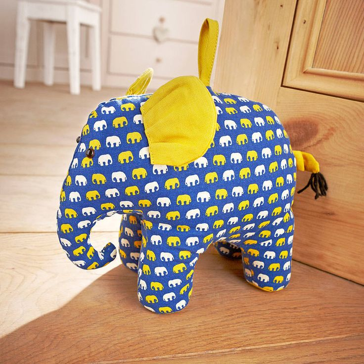 elephant door stop by ulster weavers | notonthehighstreet.com