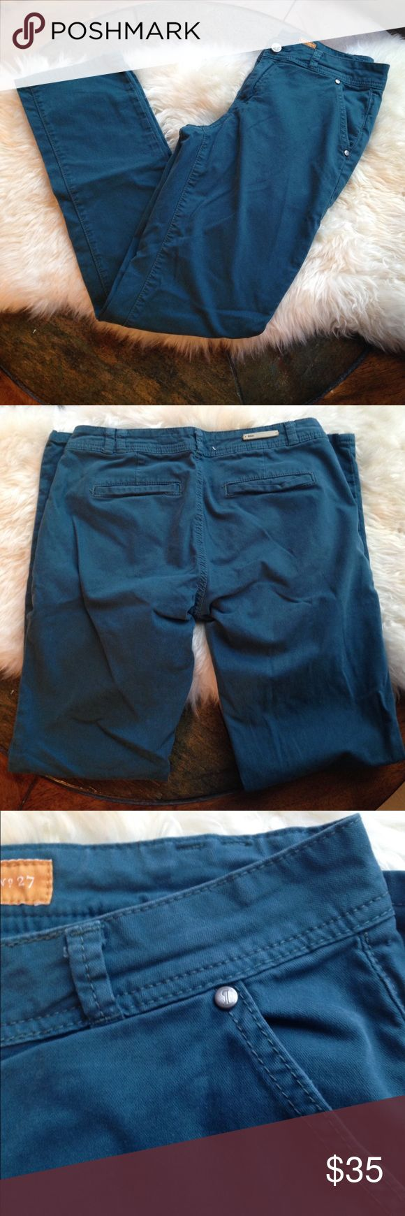 Pilcro and the Letterpress Teal Pants, 27 Anthro pre-loved (gently used) teal pants. Anthropologie Pants