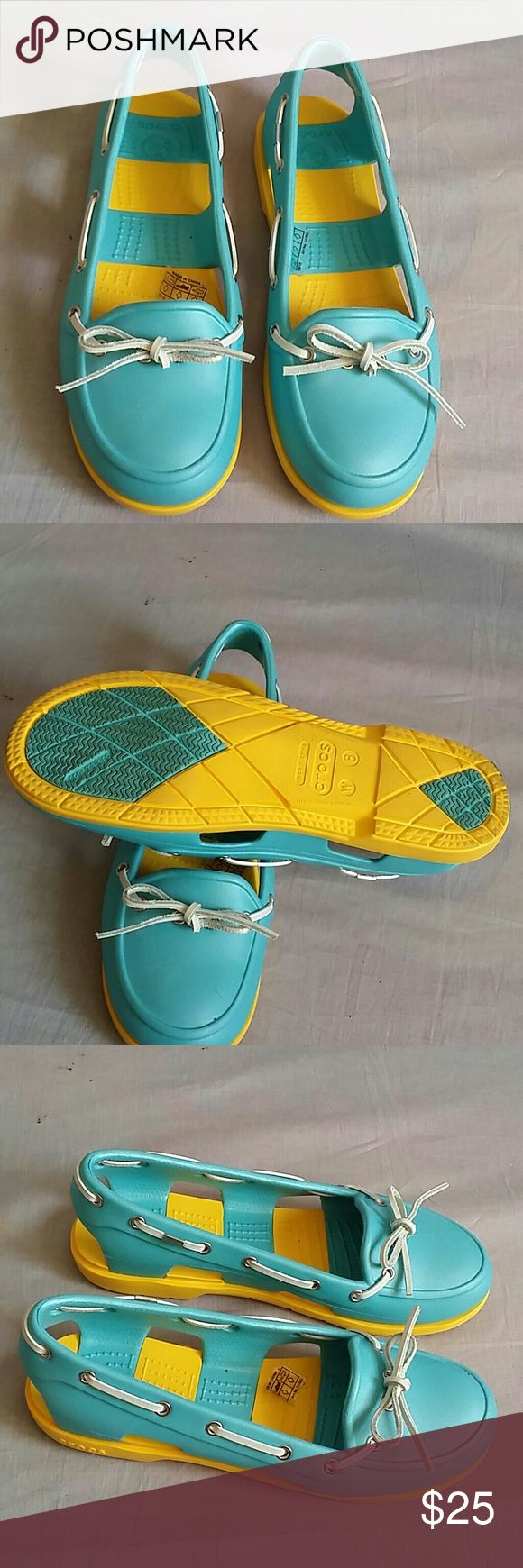 Crocs Shoes Size 8 W Rubber Slip-on Item used for few times only, NO PETS AND SMOKE FREE HOME. CROCS Shoes