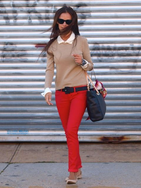 Wine Taste Girl: How to Wear Red Pants