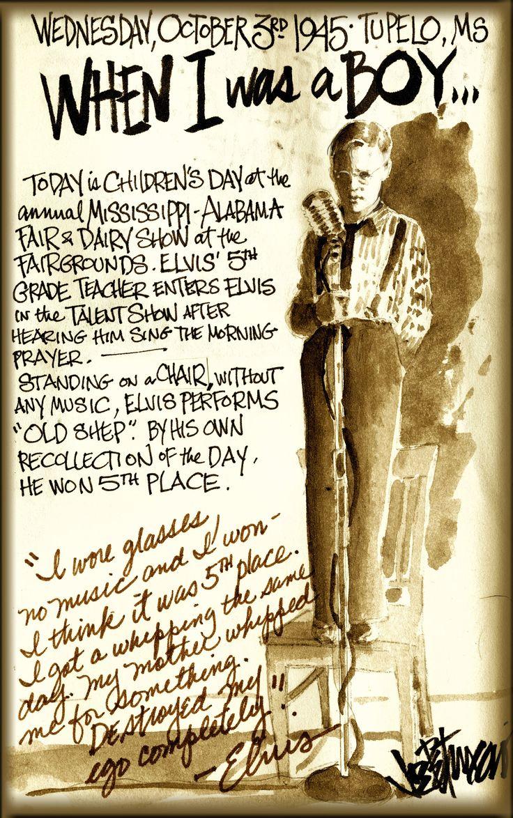 By Joe Petruccio - Wednesday, October 3rd,1945   Elvis Presley  #Elvis #ElvisSerendipity