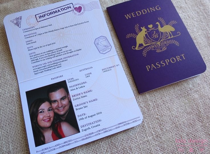 Zorica & Bruno Passport Invite