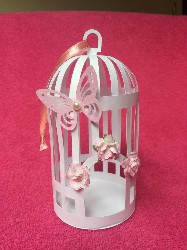 Gaiola decorada para lembrança ou decoração de mesas