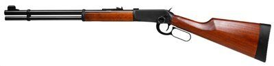 Walther Lever Action CO2 Rifle, Black air rifle by Walther. $419.99. Walther's Lever Action air rifle is the airgun version of the Winchester 1894 firearm! So realistic, no one will be able to tell the difference between your air rifle and the firearm! Uses 1 88-gram CO2 cartridge Lever-action 8-shot rotary clip 15 length of pull 3-lb. trigger pull Western-style ambidextrous stock Front sight adj. for windage, rear adj. for elevation Black barrel and action Rubber bu...