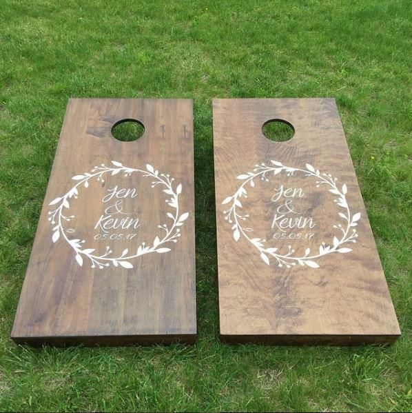 www.thetechboards.com Wedding Cornhole Boards - Customize any way you like it Cornhole Boards for your big day!