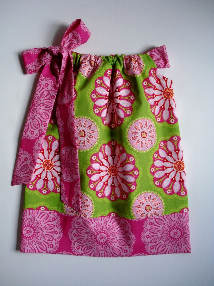 Girls pillowcase dress Gypsy Bandana in Lime Kaleidoscope sizes 6-9 month- 4T by & 47 best Kid\u0027s outfits images on Pinterest | Matching outfits ... pillowsntoast.com