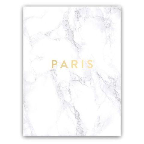 "Marble + Gold Foil Print ""Fashion Capitals"""