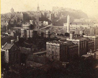 G W WILSON ABERDEEN SCOTLAND STEREOVIEW EDINBURGH OLD TOWN FROM CARLTON HILL