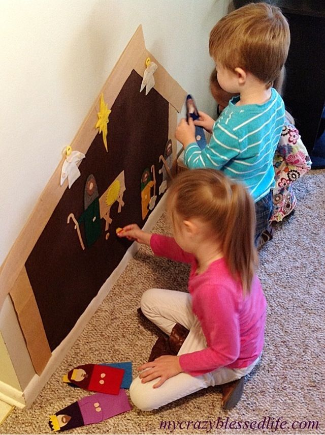 Templates for felt wall nativity - SO COOL!