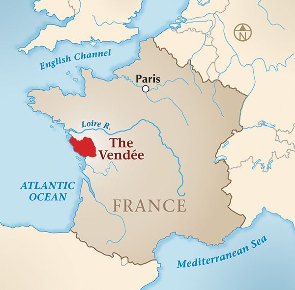 Map Of France Vendee.Map Of France Showing The Vendee A Fierce Wind By Regan Walker