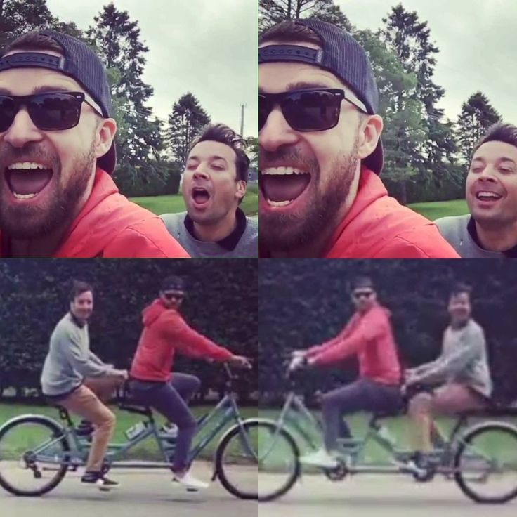 JT and Jimmy Fallon - Bro Biking in the Hamptons during Memorial Day weekend