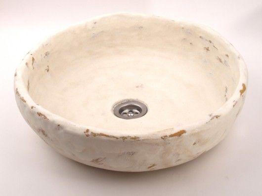 dodatki - łazienka-umywalka rustykalna