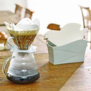 ハリオ ラブドリ コーヒーフィルター 1-4杯用 20枚入 ホワイト VCFL-02-20W