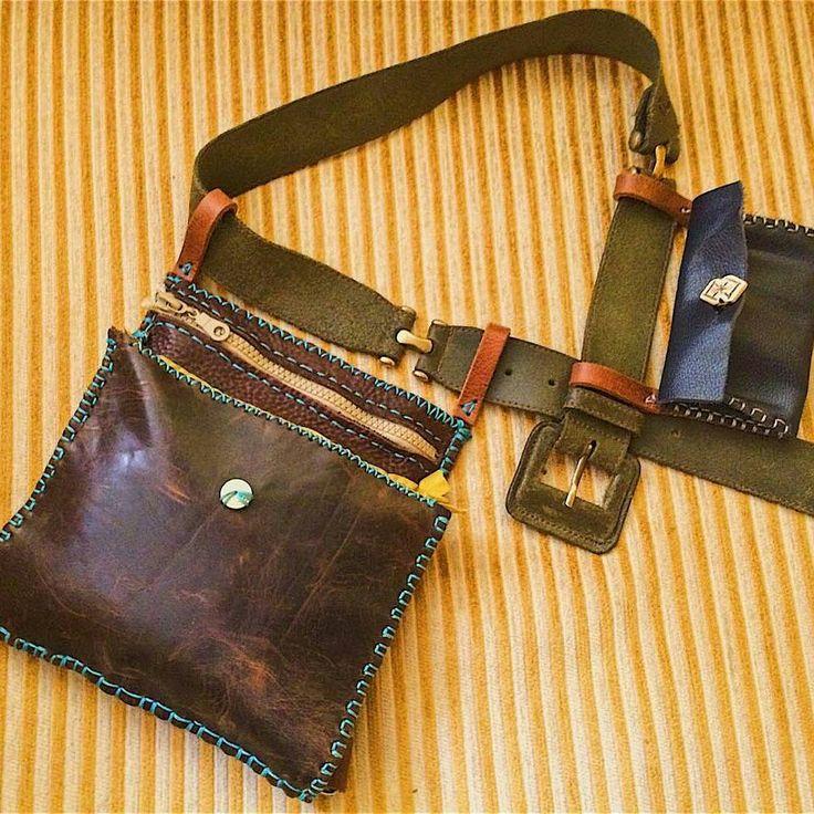 yeni el işi ve özgün tasarım deriden bel çantası | new hand made & unique design leather work belt bag #yenitasarım #tasarım #elişi #özgün #deriişçiliği #deri #belçantası #çanta #deriçanta #newdesign #new #design #handmade #kendinyap #diy #unique #leatherworks #leather #leatherbag #beltbag #waistbag #bag #aşkolsun #forpeacewithlove
