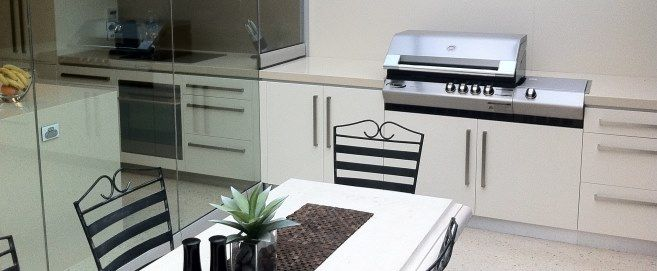outdoor kitchen creating seamless flow from lotuskitchens.com.au
