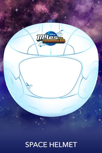 Miles from Tomorrowland space helmet printable #MilesFromTomorrowlandParty