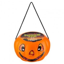Pumpkin Pail filled with yummy sweets, perfect for trick or treaters this Halloween.