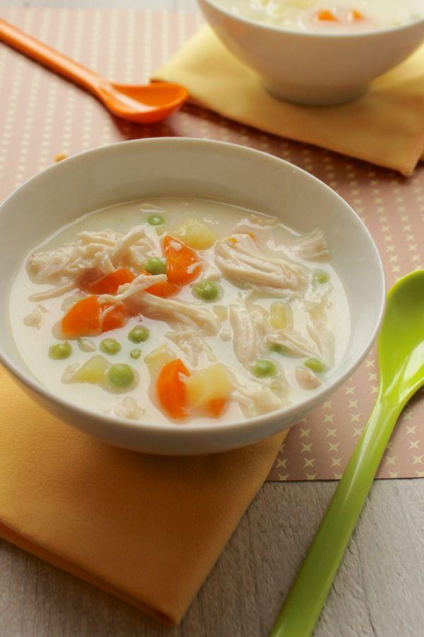Zuppa di pollo cremosa: così ho accontentato Laura ed Elisa !