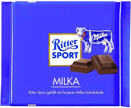RITTER SPORT Fake Schokolade Sorte Milka