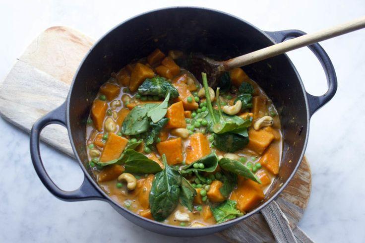 raw food vegan recepten zoete aardappel curry