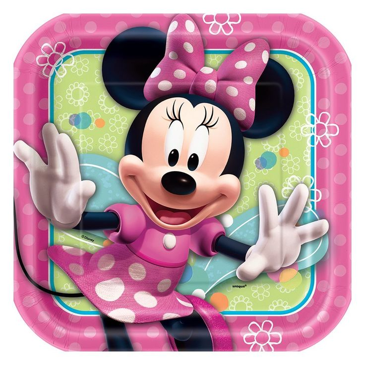 Square Minnie Mouse Dinner Plates, 8ct, Plates - Amazon Canada