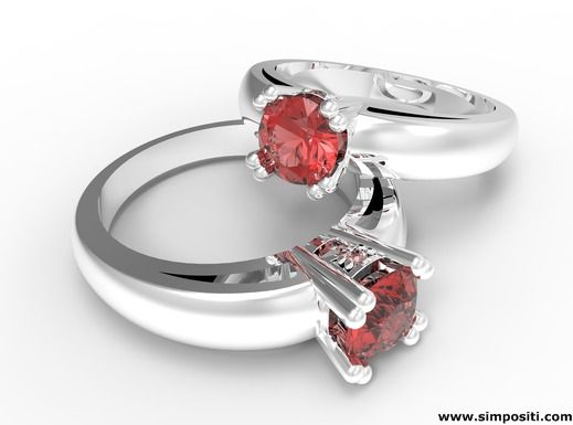 Very nice rings with red diamonds. #rings #diamonds